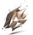 Contemporary technical asymmetric stylish vector image vector image