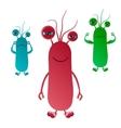 Cute Cartoon Bacterium vector image vector image