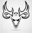 Deer Skull Tribal vector image vector image