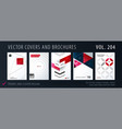 design set of colourful abstract templates for vector image