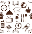 doodle seamless hotel pattern vector image vector image