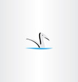 duck in water logo sign element vector image vector image
