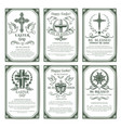 easter cross religious poster and banner set vector image vector image