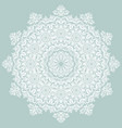 elegant white ornament in classic style vector image vector image