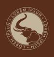 elephant sign logo emblem -05 vector image vector image