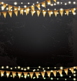 Empty Christmas Template with Neon Garlands