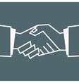 Flat Handshake Icon Business for your design vector image