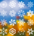 Flower icons collection vector image