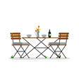 garden table and chairs vector image