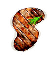 grilled beef steak vector image vector image