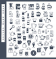 hand draw coffee icon set vector image vector image