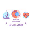 heart rate monitoring concept icon cardiological vector image vector image