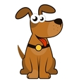 isolated cartoon dog vector image