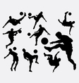Male people playing soccer sport silhouettes vector image vector image