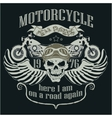 Motorcycle Design Template Logo Skull rider vector image vector image