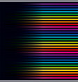 multicolored lines colorful lines horizontal vector image vector image