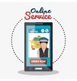 online service taxi driver vector image
