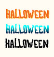 orange blue black halloween title on the white vector image vector image