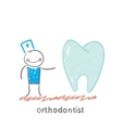 orthodontist is with great teeth vector image