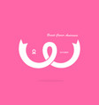pink breastbosomor chest iconbreast cancer vector image vector image