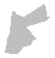 pixel map of jordan dotted map of jordan isolated vector image vector image