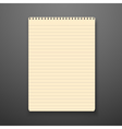 Realistic Paper Notepad Isolated vector image vector image