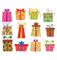 retro gifts set vector image vector image