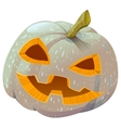 Scary Pumpkin lantern for Halloween vector image