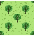 Seamless pattern with oak forest trees vector image vector image