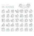 set line icons oils vector image vector image