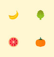 set of dessert icons flat style symbols with vector image vector image