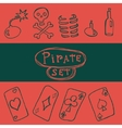 Set of pirate icon vector image vector image