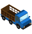 simple isometric truck on white vector image vector image