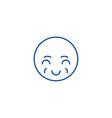 sly emoji line icon concept sly emoji flat vector image vector image