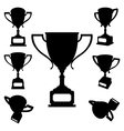 sport cups silhouettes vector image vector image