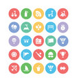 Sports Colored Icons 7 vector image vector image