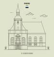 st elizabeths church in parnu estonia vector image vector image