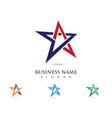 star logo template icon design vector image vector image