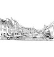 strasbourg france hand drawn sketch vector image vector image
