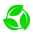 symbol an environmentally friendly or rapidly vector image vector image