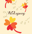 Thanks giving vector image vector image