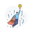 the businessman climbs career ladder vector image