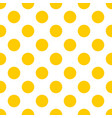 tile pattern with yellow polka dots on white vector image vector image