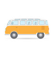 travel camper van car auto vehicle transport icon vector image