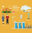 traveling in singapore map important elements vector image vector image