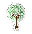 tree plant with gears isolated icon vector image vector image
