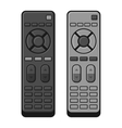 TV Remote Control Set on White Background vector image