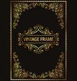 vintage decorative frame gold vector image vector image