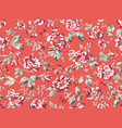 vintage style floral seamless pattern vector image vector image