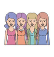 women in half body with casual clothes and vector image vector image